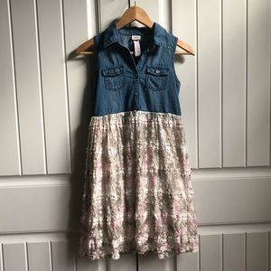 JUSTICE Denim and Lace Dress Girls 12